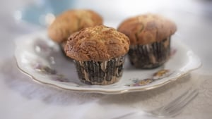 An army of these peanut banana muffins will go down a treat at your next party.