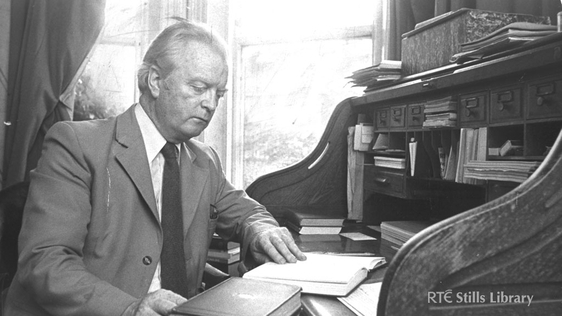 Benedict Kiely (1919 - 2007) Irish Writer © RTÉ Stills Library 0082/077