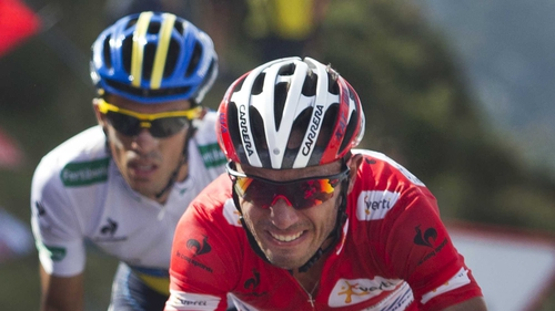 Joaquin Rodriguez leads Alberto Contador by 28 seconds overall with five days of riding to go in La Vuelta a Espana