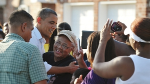 Barack Obama met Louisiana residents affected by Hurricane Isaac ahead of the Democratic convention
