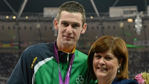 McKillop was presented with his gold medal by his mother Catherine