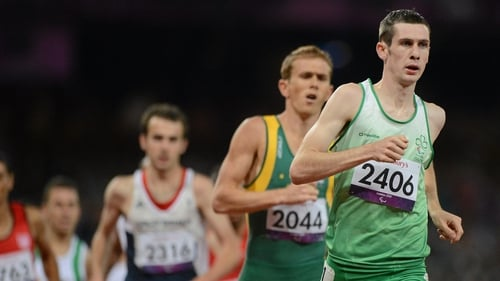 McKillop looked strong from the start as he looked to add to his 800m T37 gold