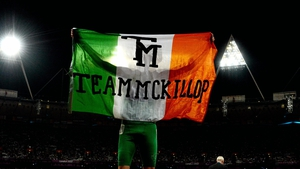 Before jogging a victory lap, draped in the Irish tricolour, while seeming to be barely out of breath