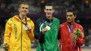 Australia's Brad Scott took silver. Mohamed Charmi of Tunisia won bronze