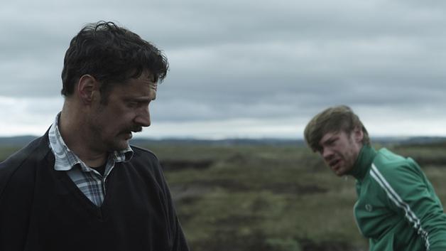 Joe Mullins (l) with his Pilgrim Hill co-star Muiris Crowley