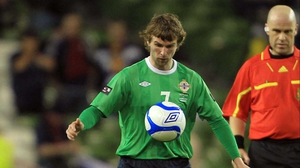 Paddy McCourt will miss the games against Russia and Luxembourg