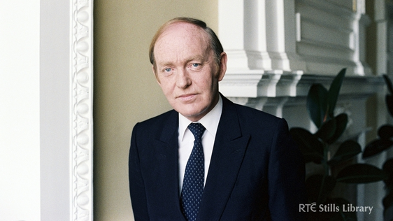 Michael O'Kennedy Fianna Fáil TD  in Leinster House, Dublin, in May 1983.  RTÉ Stills Library 2299/032