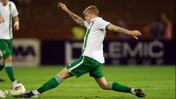 James McClean was set to make his international debut in Astana
