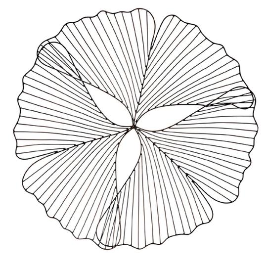 Leaf wire platter, €34