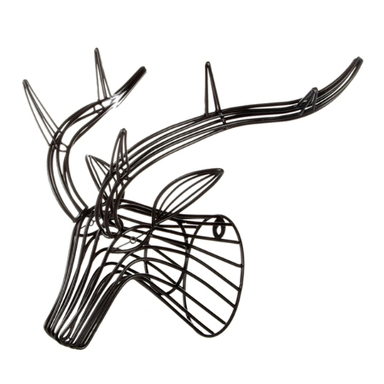 Wire stag head, €50