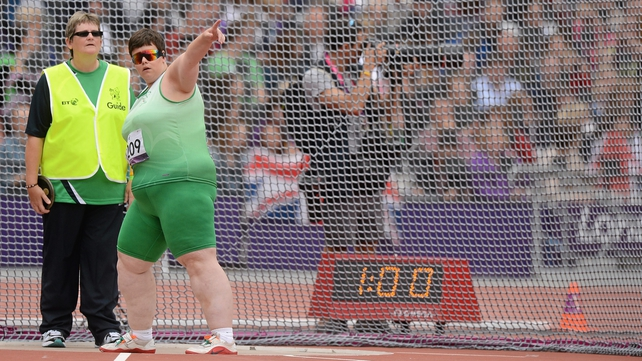 Ailish Dunne finished 12th in the F11/12 shot put