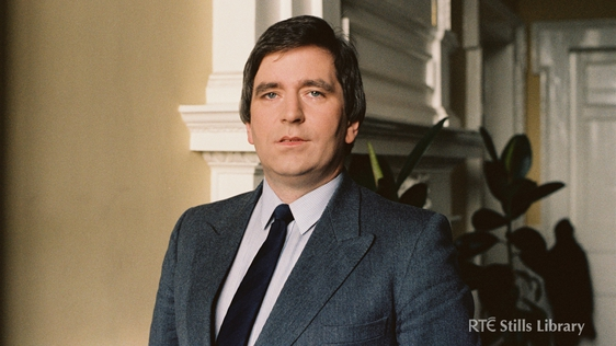 Fianna Fáil TD and former Minister for Finance Charlie McCreevy, in Leinster House, Dublin in May 1983. © RTÉ Stills Library 2080/090