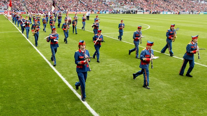 The historic performance will take place in tandem with the Artane Band playing Amhrán na bhFiann before the game between Galway and Limerick