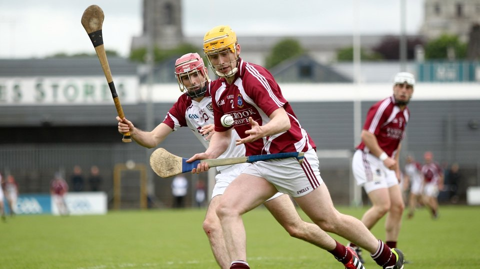 Galway's James Regan closes down Conor Ryan of Westmeath