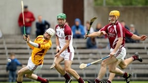 Westmeath goalkeeper Shane McGovern saves a goal bound effort from David Burke
