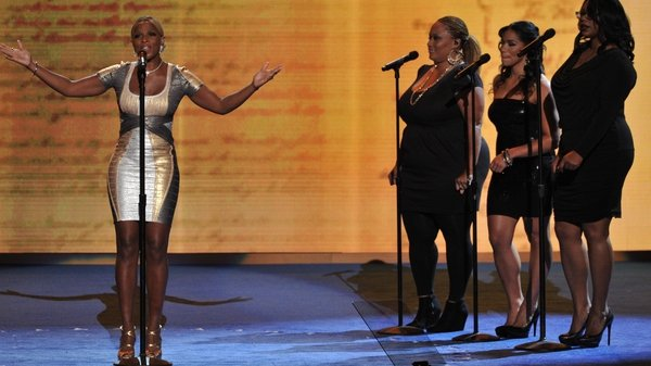 Singer Mary J. Blige performs at the Democratic National Convention where US President Barack Obama will accept his party's nomination