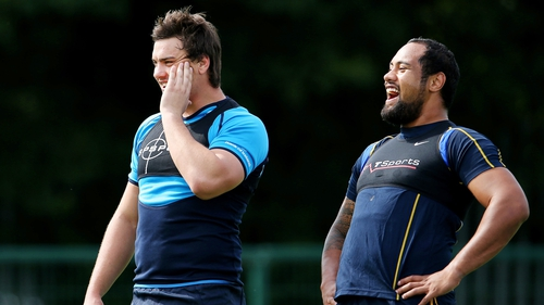 Quinn Roux (left) and Leo Auva'a both start for Leinster on Saturday