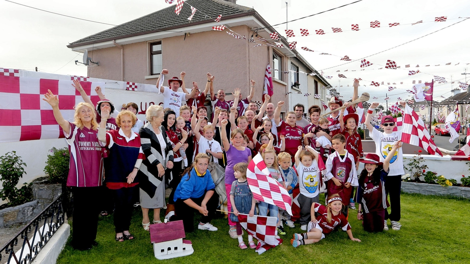 Galway supporters show their colours