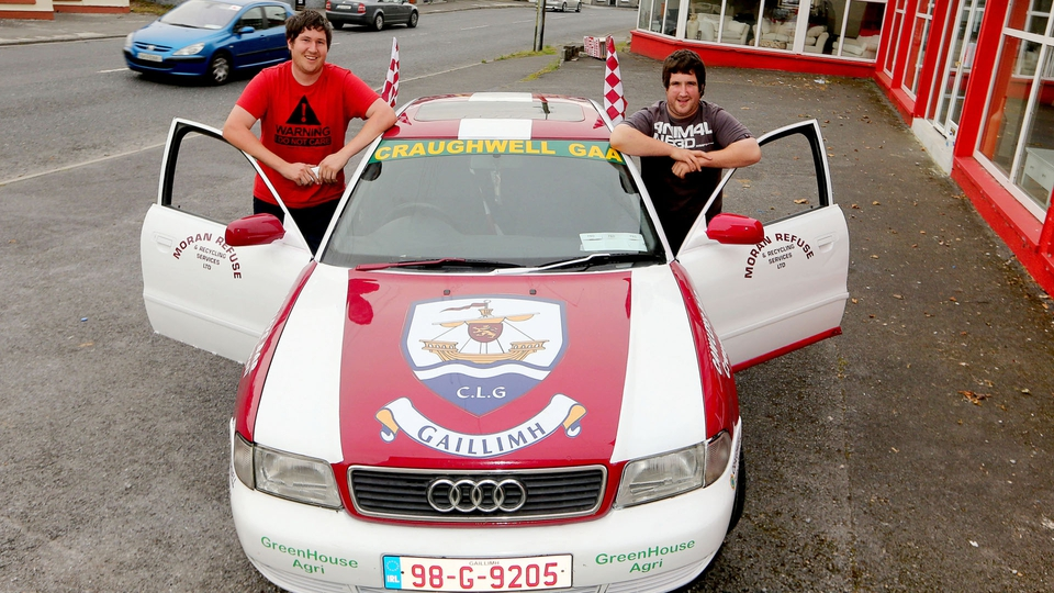 Noel Kelly and Conor Hawkins from Craughwell are ready for the trip to Croke Park