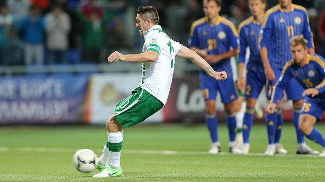 Robbie Keane helped salvage some pride for Ireland when he scored from the spot