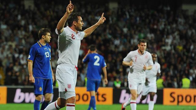 England veteran Frank Lampard bagged a brace in Moldova