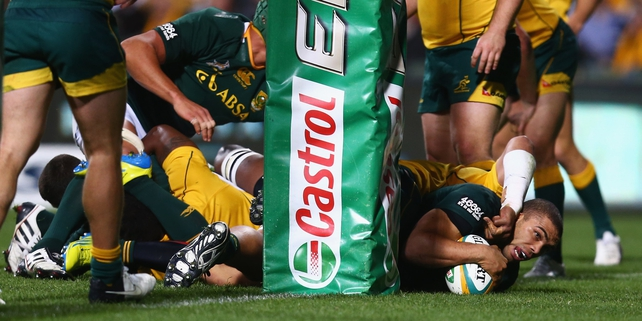 Bryan Habana crossed the whitewash for South Africa'a only try