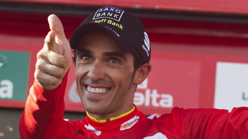 Alberto Contador heads into the final stage of La Vuelta a Espana wearing the red jersey