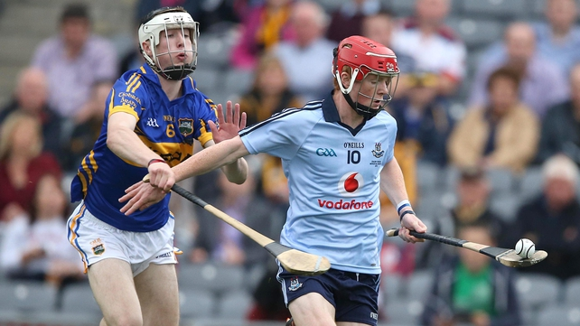 Dublin's Conor McHugh is chased down by Tipperary's Tomas Hamill