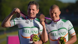 On the same day as Rohan took gold, James Brown and Damien Shaw won bronze in the men's road cycling individual B time trial