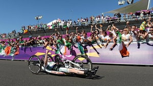 Mark Rohan became Ireland's second double gold medal winner with victory in road cycling's individual H1 road race