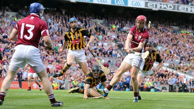 Joe Canning struck the first goal of the game for the Tribesmen