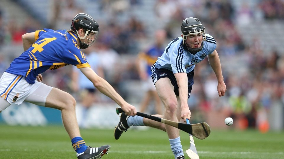 Dublin's Donal Gormley is chased by Tipperary's Jack Peters