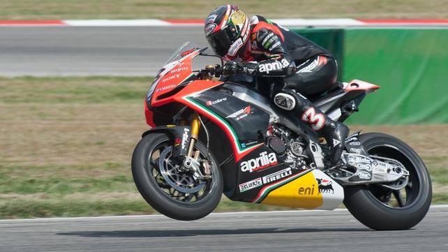 Max Biaggi leads the Superbike World Championship