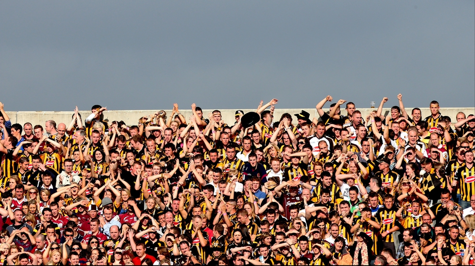 Kilkenny fans enjoying the occasion on Hill 16