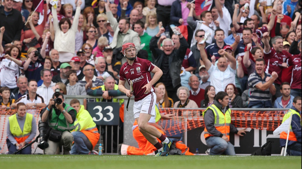 Galway's fans acclaim Canning as his free splits the posts to make the score Galway 2-13 Kilkenny 0-19 and force a replay