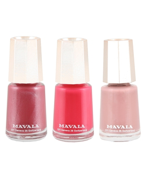 Three polishes in the Mavala range €3.77, available nationwide
