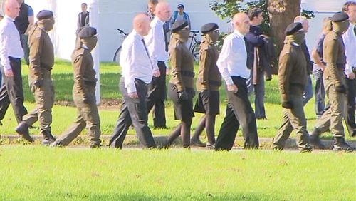 They were arrests following paramilitary activity at the funeral of Alan Ryan