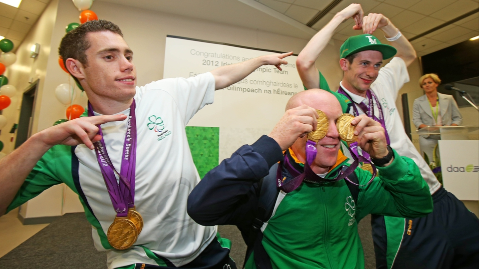 Some familiar poses from multiple-medalists Jason Smyth, Mark Rohan and Michael McKillop.