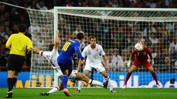 Dnipro Dnipropetrovsk's Yevgen Konoplianka gave Ukraine the lead with a wonder strike at Wembley