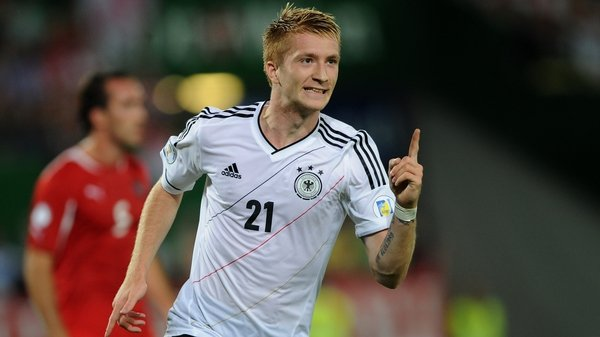 Marco Reus gave Germany a first-half lead against Austria in Vienna
