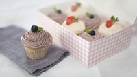 Strawberry cupcakes - A classic but a refined classic with a lot of class, from Rachel's new series.