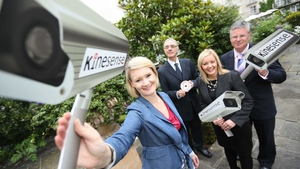 Sarah Doyle, CEO of Kinesense, pictured with some of the company's latest investors