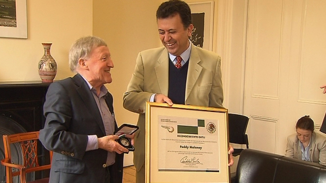 Paddy Moloney was given the award for strengthening ties between Ireland and Mexico