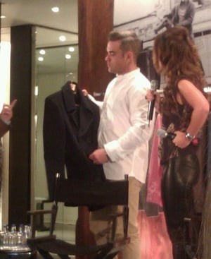 Robbie Williams launched his new collection Farrell in Brown Thomas today