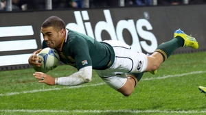 Bryan Habana scored his 50th try for South Africa