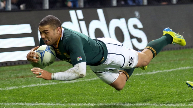 Bryan Habana's try wasn't enough to prevent the Springboks going down