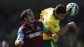 Norwich and Hammers play out a draw