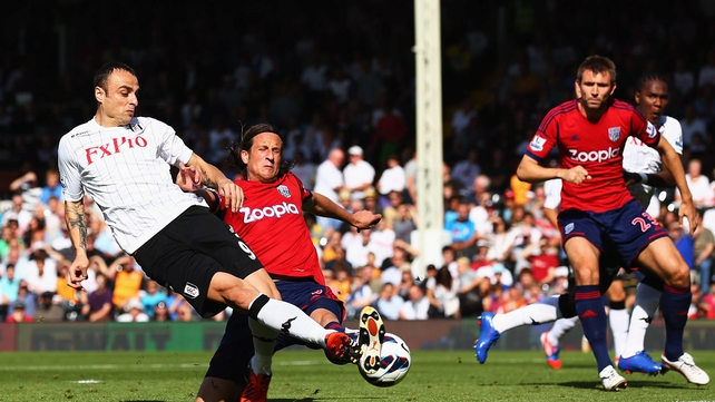 Dimitar Berbatov was dangerous throughout the game in his full debut for Fulham