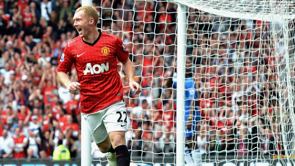 Paul Scholes scored on his 700th appearance for Manchester United