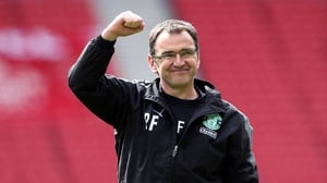 Pat Fenlon was happy that his Hibs side build on their draw with Celtic